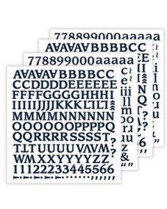 Clean Slate Blue Navy Alphabet Stickers