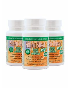 Pollen Burst™ Plus - Daily Liver Formula - 60 tablets (3 Pack)