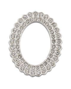 Crystal Sunburst Silver Oval Frame