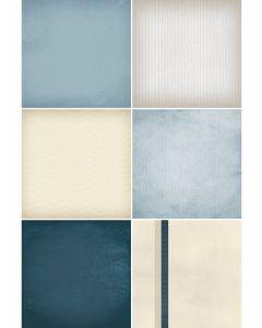 Clean Slate Blue Designer Refill Pages - Set 18